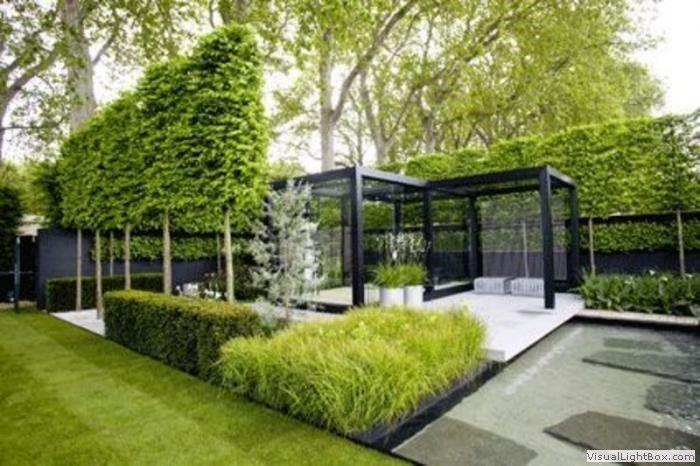 25 mooiste idee n over hedendaagse tuinen op pinterest modern tuinontwerp moderne tuinen en - Eigentijdse tuinarchitectuur ...