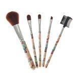 Lot de 5 pinceaux à maquillage motif hawaïen