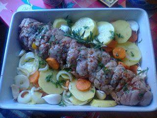 Adriana  Hobby: Ruladă de carne de porc cu legume