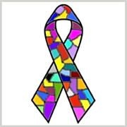 Dissociative Identity Disorder Awareness Ribbon Facebook profile picture size (Multiple personality disorder) - http://traumadissociation.com/awareness