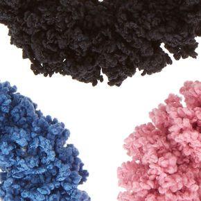 Denim Wash Super Soft Hair Scrunchies,