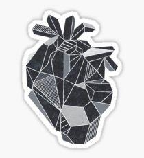Pegatina Geometric Black Heart