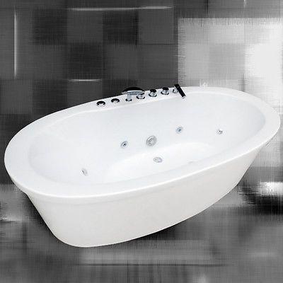 freistehender luxus whirlpool badewanne luis wellness aus sanit racryl neu badezimmer. Black Bedroom Furniture Sets. Home Design Ideas
