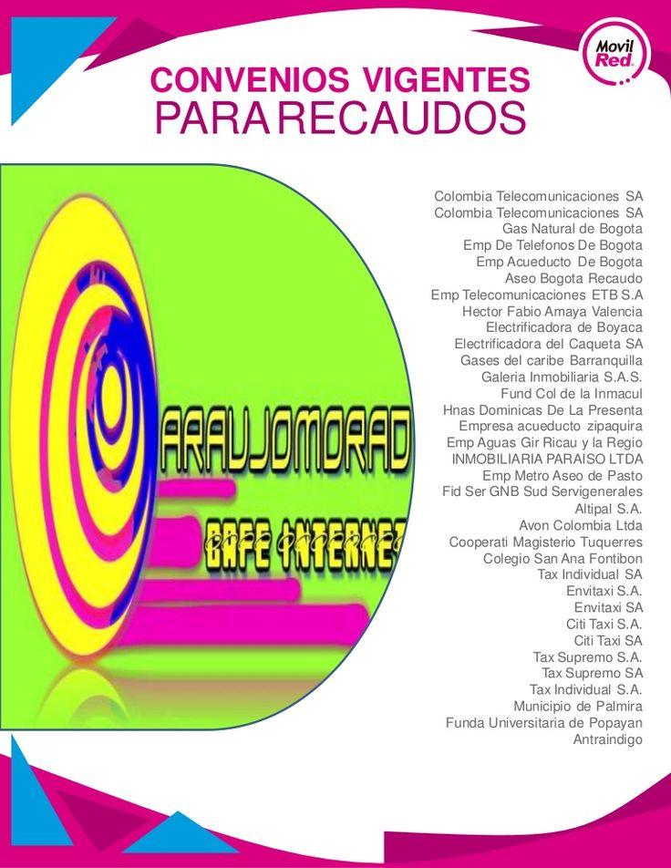 Convenios noviembre-5 araujomorad cafe internet by AraujoMorad CibeCafe via slideshare