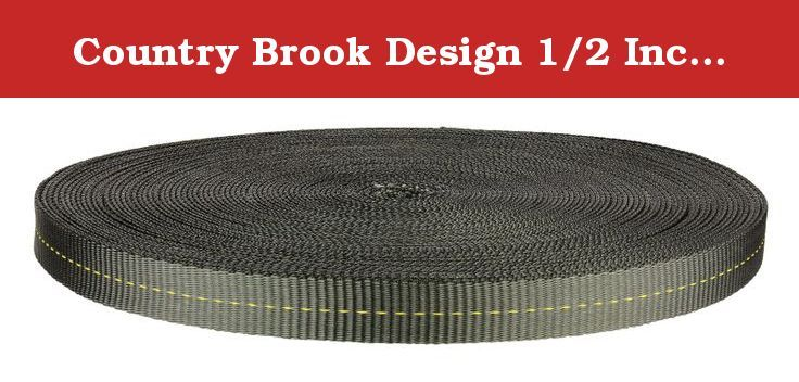 Country Brook Design 1/2 Inch Foliage Green Military Spec Tubular Nylon Webbing, 100 Yards. Description: Country Brook Design's Tubular Nylon Webbing is a nylon hollow tube which makes it softer and more pliable than flat webbing. It is perfect as a protective covering for cables, tubes, hoses, and shock cord. Tubular Nylon Webbing is as strong, if not stronger, than flat webbing and has a nice smooth feel. 100 Yards may be shipped in two 50 yard rolls to save on shipping. Specifications:...