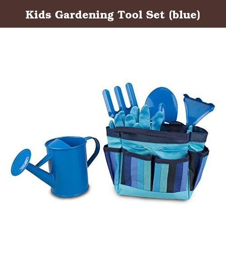 Kids Gardening Tool Set (blue). Put kids and their imaginations to work while playing safely with the Kids Gardening Tool Set. With the garden tools for children set, you'll never need a reason to send them outside. Each tool is quality made, with wooden handles and metal ends. Create a fun tradition of planting spring buds and even introduce a little joy in yard work. Get the kids out of the house, a little dirt under their fingernails and fresh air with the gardening set.