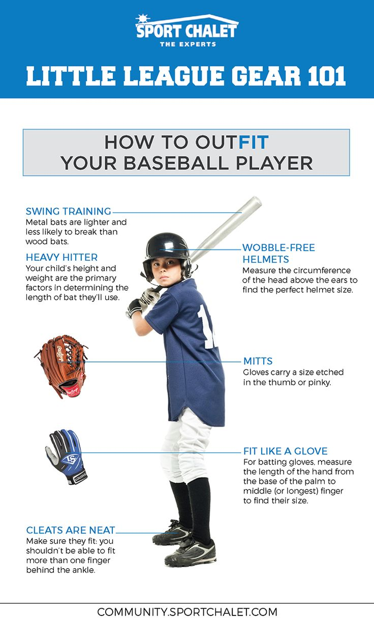 Learn what Little League equipment your child needs to gear up for baseball season! And, how to measure for the right fit. Click for full article.