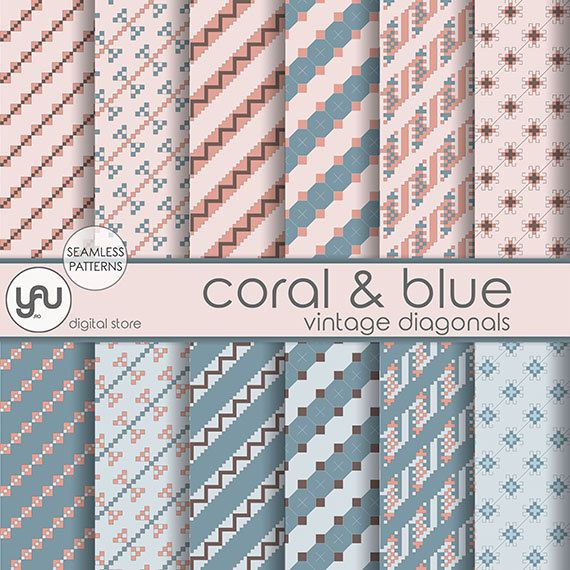 "Coral digital paper: ""CORAL & BLUE"" with coral and navy geometric seamless patterns, coral wedding party background, navy digital paper #Scrapbooking #Paper #coral #digital #navy #blue #seamless #patterns #wedding #diagonal #scrapbook #background #download #ScrapbookingPaper #coraldigitalpaper #coraldigital #coralpaper #coraldigital #papercoralandnavy #seamlesspatterns #coralwedding #navydigital #papernavy #digitalscrapbookpaper #coralbackground #digitaldownload"