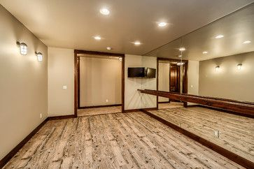 Dance studio idea (wood trim)