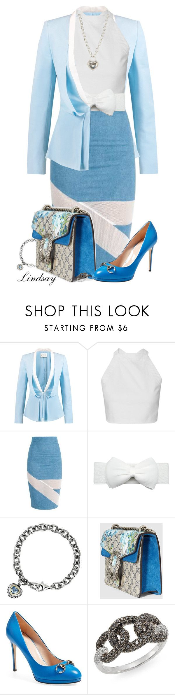 """Gucci Dionysus Gg Blooms Mini Bag"" by lindsayd78 ❤ liked on Polyvore featuring Vionnet, Gucci, Effy Jewelry and GUESS"