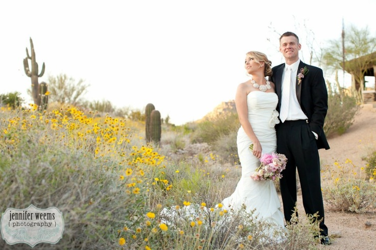 wildflowers desert wedding    JenniferWeems.com photography