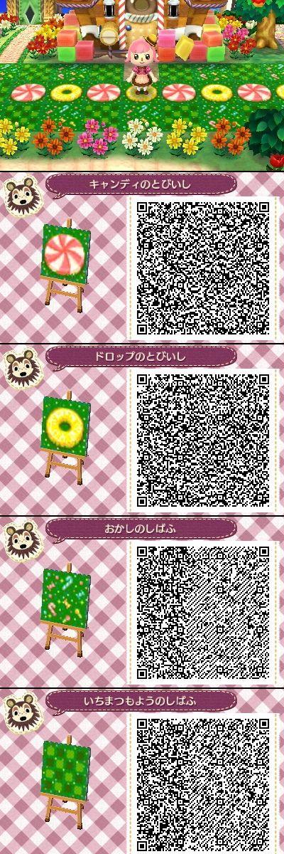 Animal Crossing New Leaf QR codes candy theme