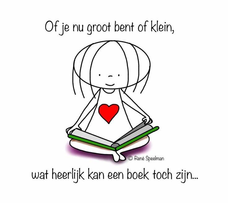 """""""Of je nu groot bent of klein, wat heerlijk kan een boek toch zijn."""" - Jabbertje"""