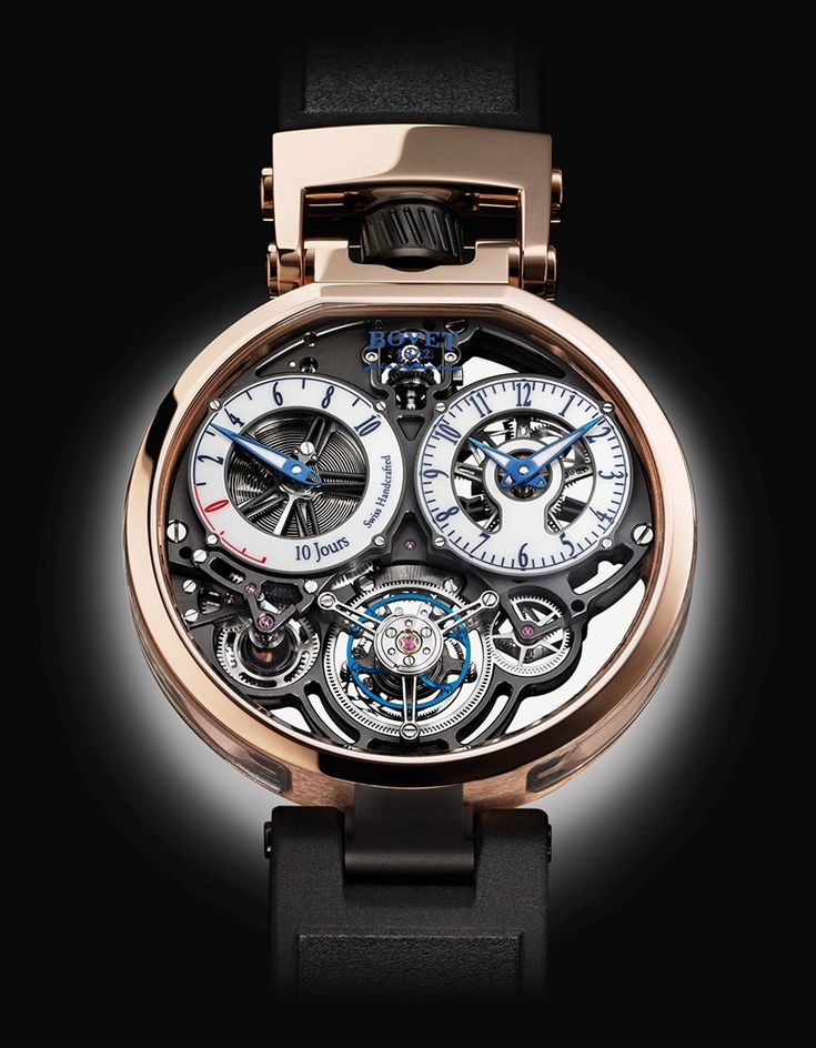 pininfarina balances clear glass with contrasting titanium and gold for bovet 1822