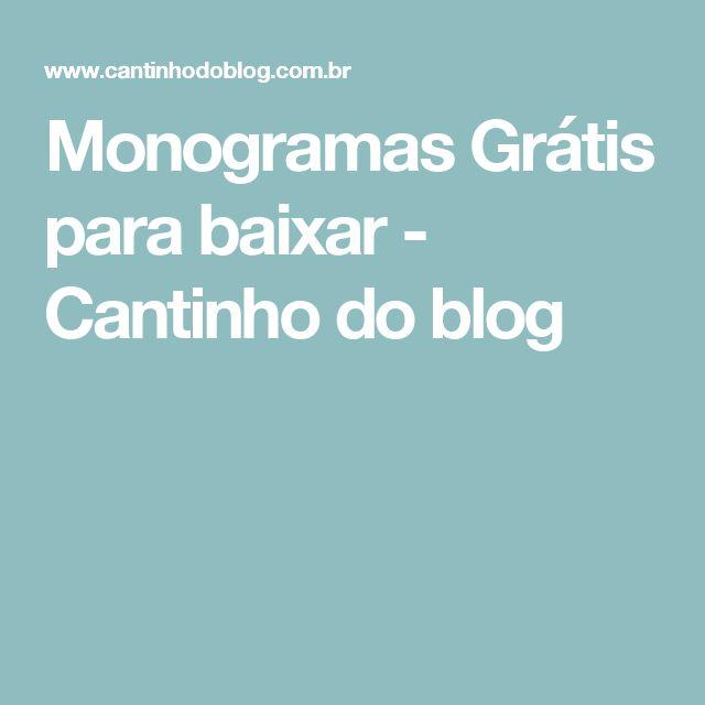 Monogramas Grátis para baixar - Cantinho do blog
