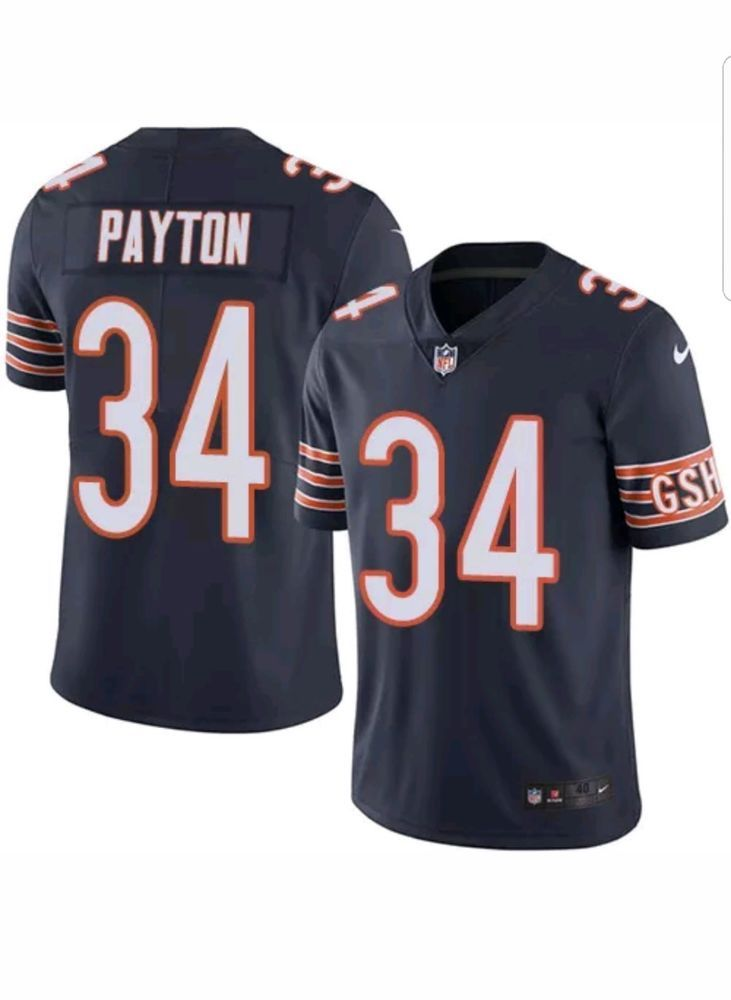 Nike NFL Walter Peyton #34 Chicago Bears Game Day Jersey L 468947 485 MSRP $100 #Nike #ChicagoBears