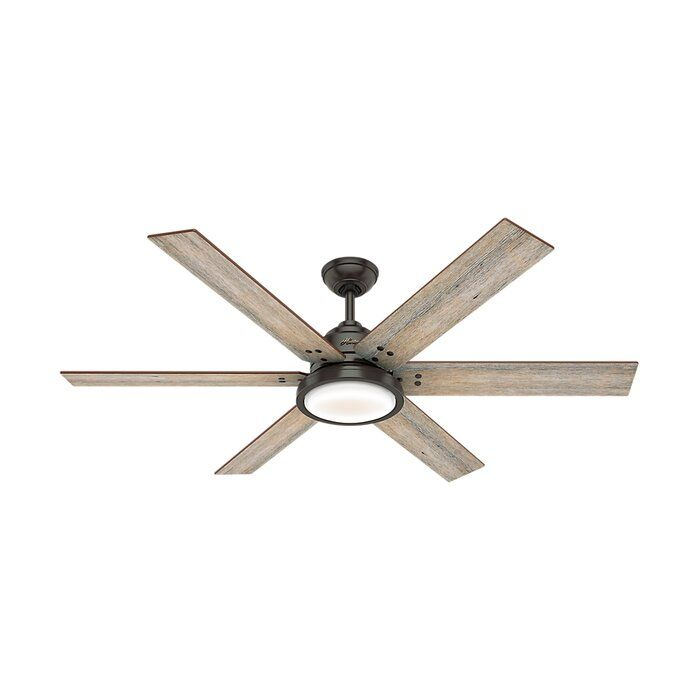 60 Warrant 6 Blade Ceiling Fan With Light Kit Included Bronze
