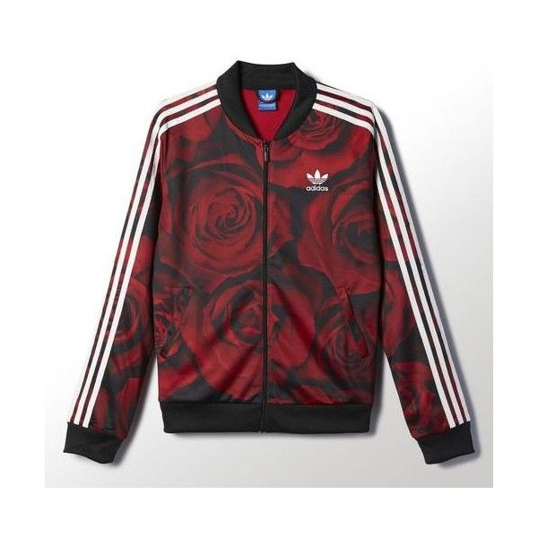 Red Clash Track Jacket (€75) via Polyvore featuring activewear, activewear jackets, women activewear, track jacket und columbia sportswear