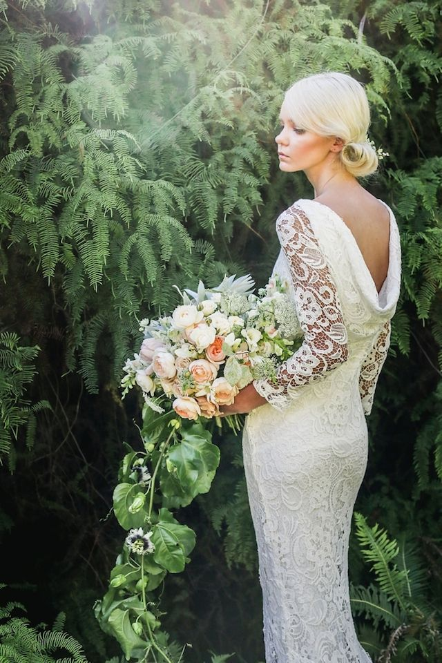 MOTHERFUCKING SLEEVES. Cotton lace sleeved wedding dress from Kelsey Genna