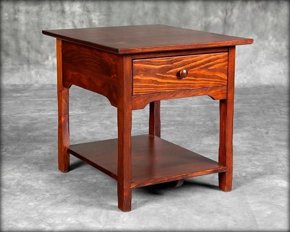 1 Drawer Cottage End Table in 2020 | Coffee table square ...