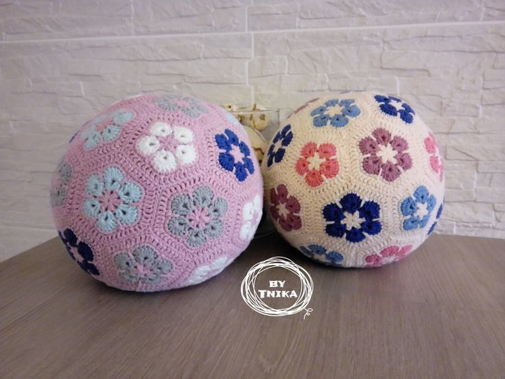 African blossoms, big ball, ball, crocheted maxi ball