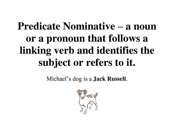 Predicate nominative   Grammar   Pinterest