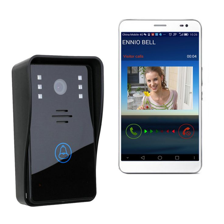 Features:1. With touch calling button:2. With rain-proof cover,3. With unlock function, can connect to access control power supply.4. One WIFI doorbell can