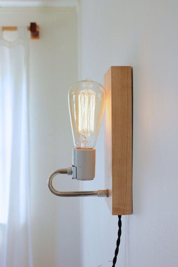 lampe de table / / bois d'érable éclairage / par ninosheadesign