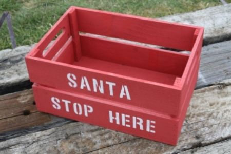Personalised Christmas crate CHRISTMAS IN #HTFSTYLE