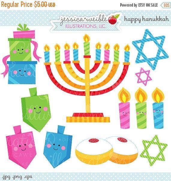 Happy Hanukkah clipart set comes with 1 clipart graphics including: a Hanukkah Menorah, 3 smiling candles, 3 smiling Dreidel Hanukkah tops, 3