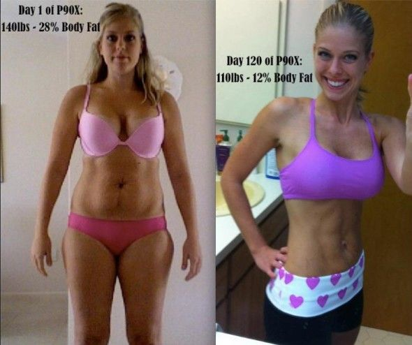 I'm about to start the p90x tonight and I think this is the perfect motivation because look just like her before picture.