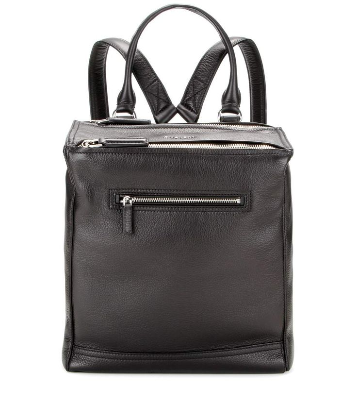 Givenchy -The roomy design is cut from a grainy calf leather in a timeless shade of black. - Pandora leather backpack - @ mytheresa.com