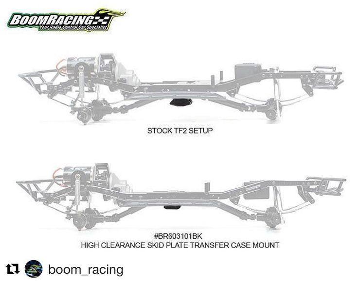 @boom_racing showing some love for the TF2! This is a huge advantage over stock!  #Repost @boom_racing (@get_repost)  New Release: Aluminum High Clearance Skid Plate Transfer Case Mount. Part #BR603101BK  Gain an additional 7mm clearance the skid plate angles better than stock to get you over the rocks easier.  Now available.  #boomracing #tf2 #trailfinder2 #newrelease