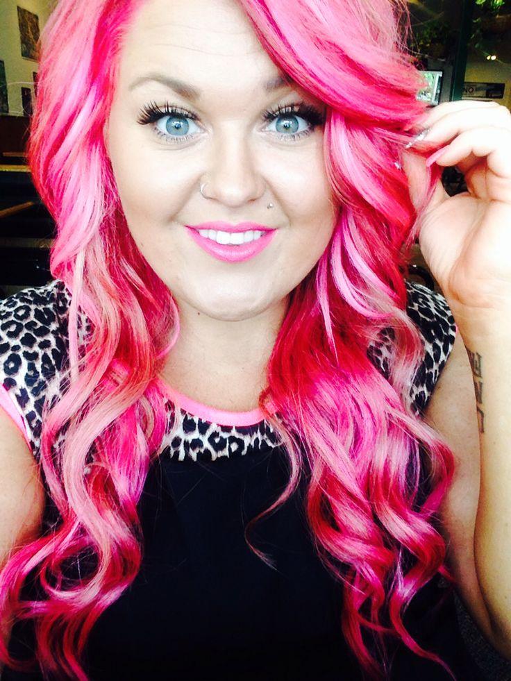 hot pink hair equal parts of magenta