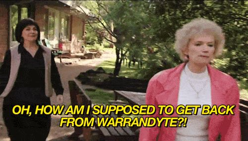 """Because our country is so big, you usually can't just walk home. 