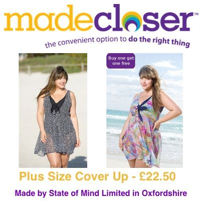 Product of the Week: Plus Size Beach/Pool Cover Up (Buy One Get One Free) made by State of Mind Limited in Oxfordshire - £22.50