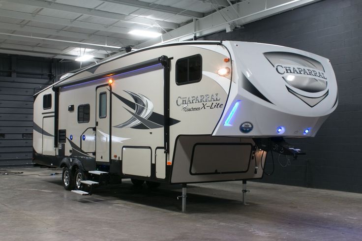 """FUN FAMILY TIMES AHEAD!!!  2017 Coachmen Chaparral X-Lite 31BHS Young campers will go crazy for the awesome rear bunkhouse, which has sleeping space for 3 kids and is ultra fun! You'll enjoy relaxing times under your 20' awning while listening to your awesome stereo with Bluetooth through great exterior features! This rig is 33'5"""" long and weighs 8,195 lbs. dry! Give our Chaparral X-Lite expert Corey Clarke a call 616-378-6784 for pricing and more information."""