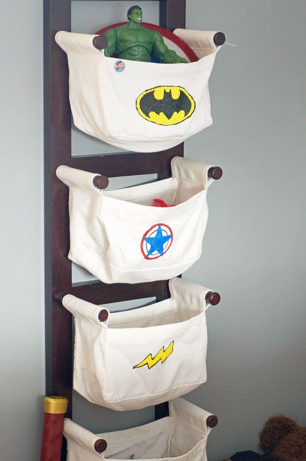 Boy Superhero Bedroom  countingwillows.com