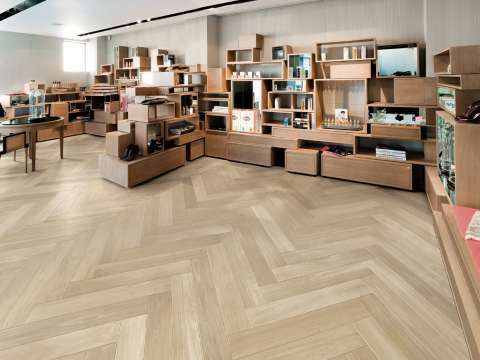 A New Floor Style-Nuances- Subtle Wood Effect Tiles