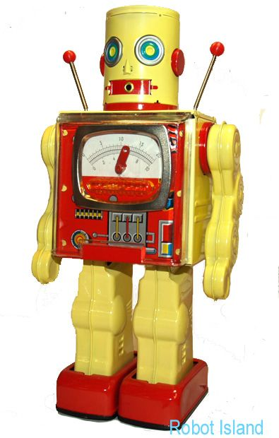 Great site selling original and reproduction tin robots...