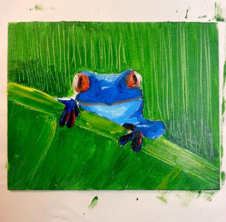 Art Lesson for Kids - Complimentary Colors.                 perfect lesson with how to draw the frog.