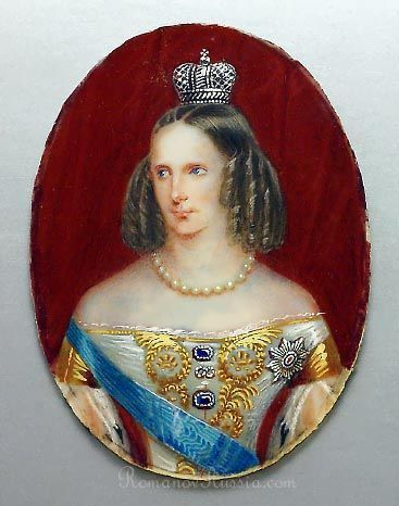 Antique Portrait Miniature on Ivory of Russian Empress Alexandra Feodorovna, circa 1825 | Antique miniatures