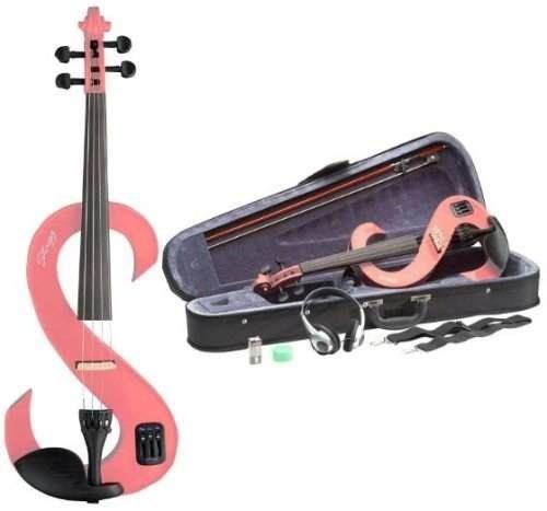 Violino Stagg Elétrico 4/4 Com Case Evn 4/4 - Rosa