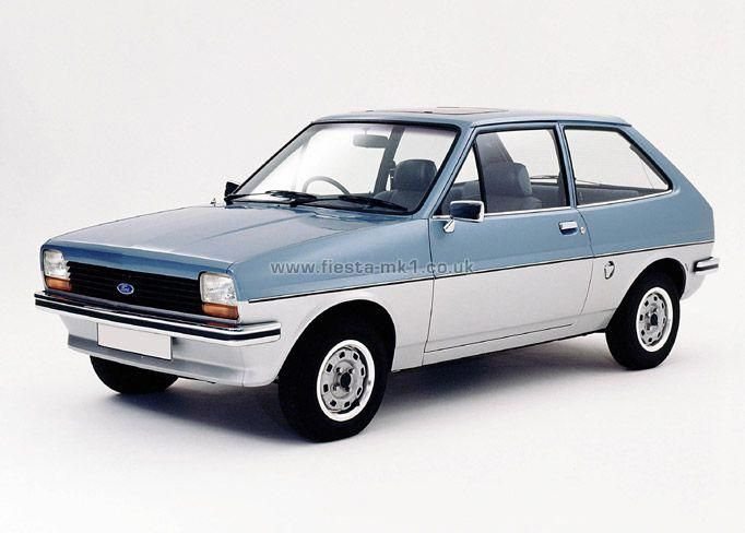 Ford Fiesta Gl In Two Tone Paint Scheme Fordclassiccars With