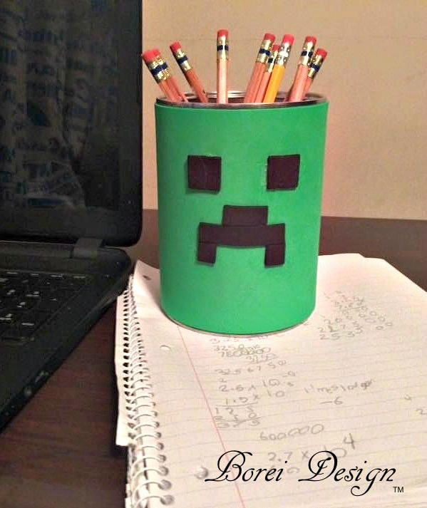 17 best ideas about pencil cup on pinterest pencil for Easy recycling projects