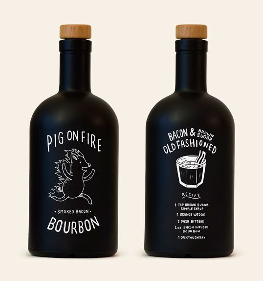 Packaging we like / Bottle / Black / White Grapohics / at lovely-package-pig-on-fire-bourbon-1
