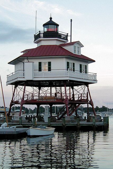Drum Point Lighthouse, Maryland. In some parallel universe, which we would regularly visit, could this be our B & B?
