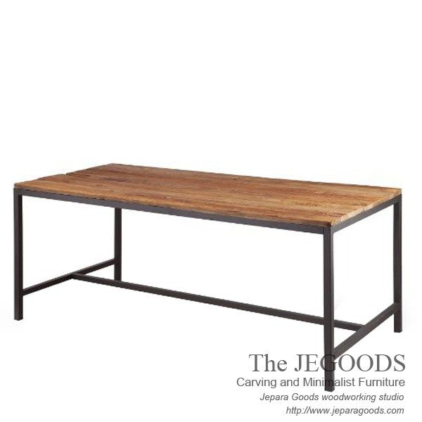 Meja Makan Kayu Besi -  Rectangular Industrial Metal Wood Rustic Dining Table Made by Jepara Goods Indonesia.    We produce and supply #rusticfurniture #industrialfurniture at affordable price by skilled #craftsman from Jepara, Central Java - Indonesia.