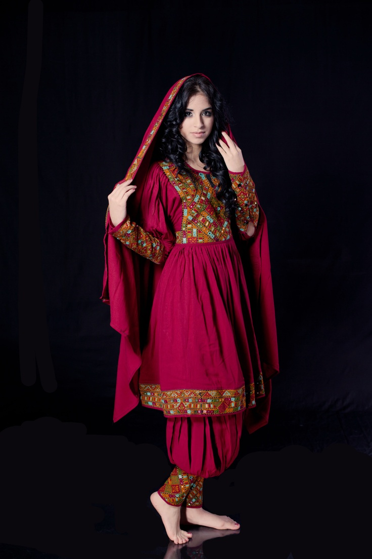 Afghan traditional clothes ~ Traditional Afghan clothes vary by regions and sometimes ethnicity, as well as tribes. Most traditional Afghan attire for women consists of a long colorful dress with round skirt.