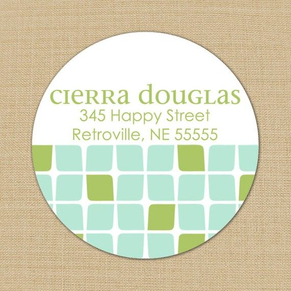 Cierra (Mod Cubes) - Custom Address Labels or Stickers by PoshGirlBoutique